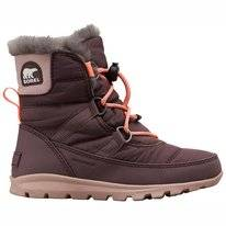 Snow Boots Sorel Youth Whitney Short Lace Purple Sage